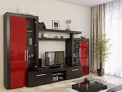 Гостиная Тоскана 310 венге/красный глянец (МДФ)