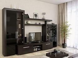Гостиная Тоскана 310 венге/чёрный глянец (МДФ)
