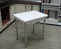 Стол раскладной Ломберный с ящиком (ножки хром)