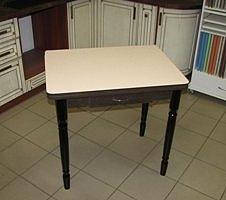 Стол раскладной Ломберный с ящиком (пластик, ножки дерево) венге