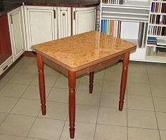Стол раскладной Ломберный с ящиком (пластик, ножки дерево) орех