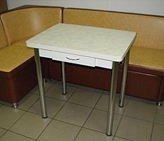 Стол раскладной Ломберный с ящиком (пластик, ножки хром) белый