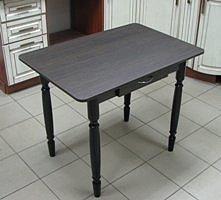 Стол Прямоугольный с ящиком (ножки дерево)