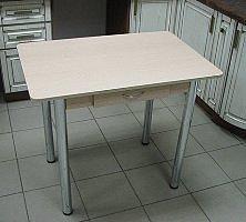 Стол Прямоугольный с ящиком (ножки хром)