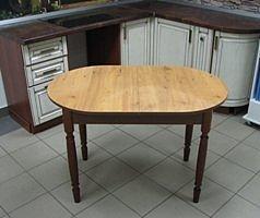 Стол раскладной Овальный (пластик, ножки дерево) орех