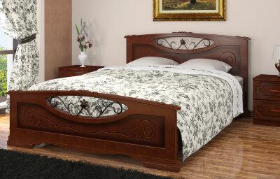 Кровать двуспальная Елена-5 Браво-мебель