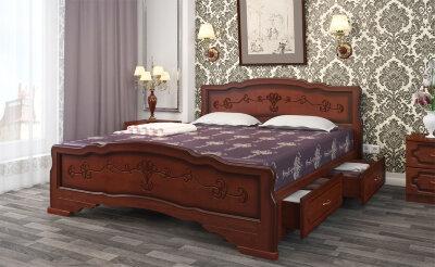 Кровать двуспальная Карина-6 с ящиками Браво-мебель