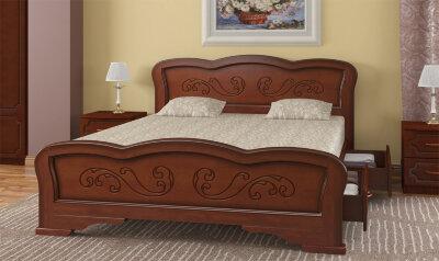 Кровать двуспальная Карина-8 с ящиками Браво-мебель